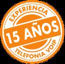 15 años experiencia telefonia ip empresas