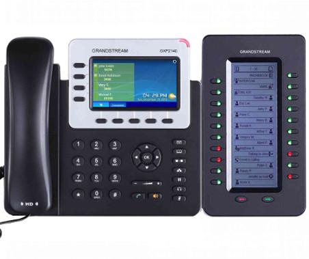telefono ip recepcionista con teclas de extensión Telsome
