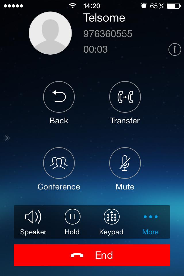 softphone grandstream wave voip llamada activa telefonia