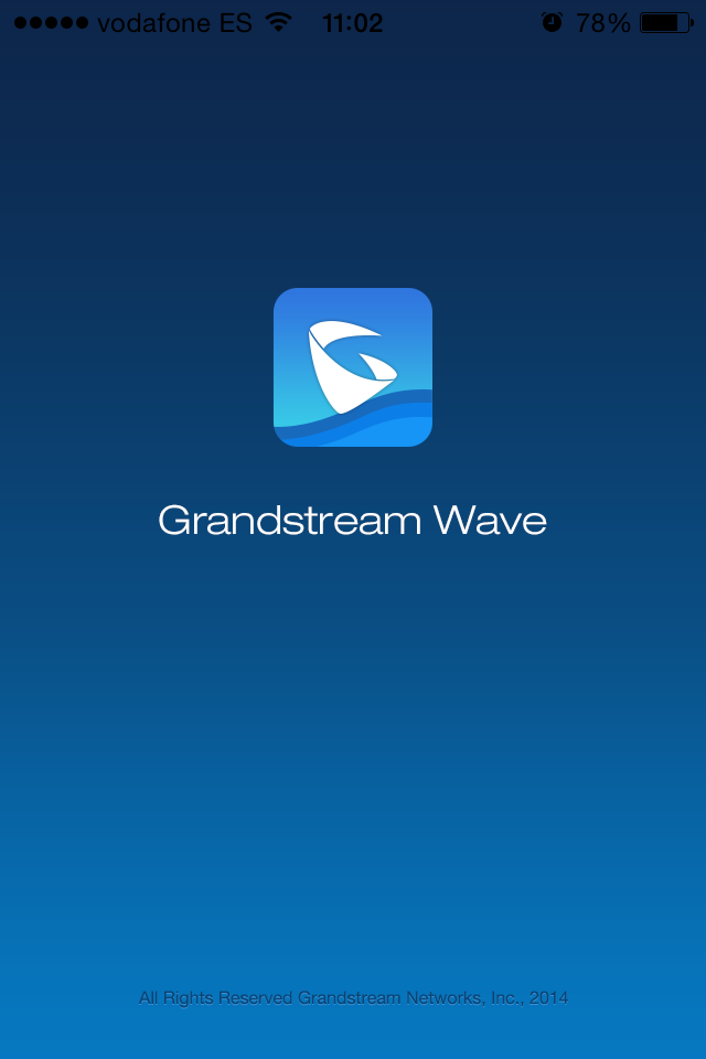 Grandstream Wave softphone voip start screen